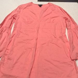 VS pink plunge tunic with wave detail